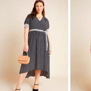 Anthropologie Breanna Polka Dot Wrap Dress Size20W